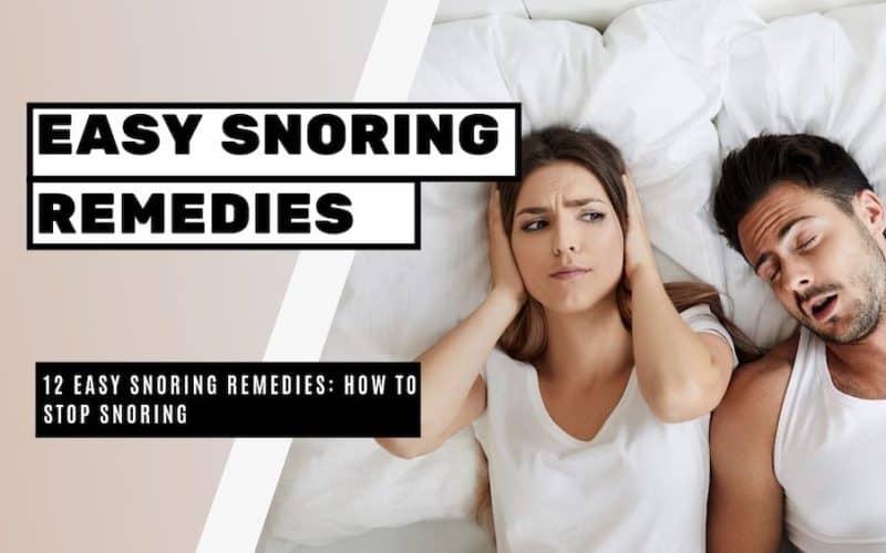 13 Remedies to Stop Snoring